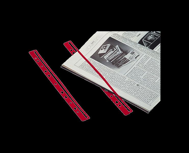 100xhelit Ordnungsschiene Prospektschiene Kataloge Magazin Hefter M-Clip schwarz