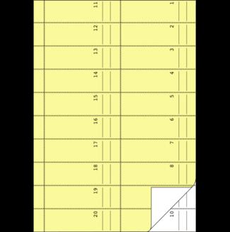 """AVERY Zweckform Formularbuch /""""Bonbuch/"""" DIN A4 gelb 2 x 50 Blatt"""